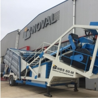 Mobile Concrete Batching Plant 60m3