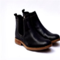 Black Leather Men Boot