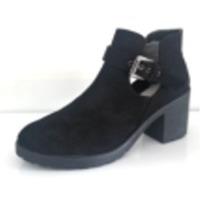 Black Textile Women Boots
