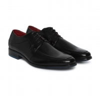 Men Shoes Black Solid Derbys Footwear