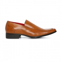 Men Shoes Brown Semi Formal Slip-on Footwear