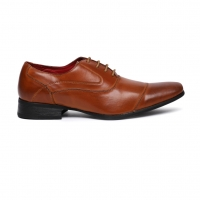 Men Footwear Tan Solid Formal Oxfords Shoes