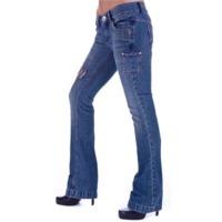 Grunge Style Boot Cut Designer Jeans