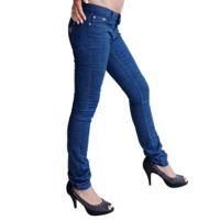 Skinny Leg Womens Dark Blue Designer Jeans