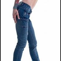 Grunge Style Straight Leg Designer Jeans