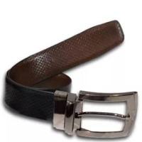 Beaded Black Leather Belts