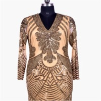 V Shape Full Sleeve Gown