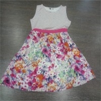 Multicolor Cotton Hosiery Girls Frock