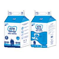 AVM Super Dry Comfort Medium Adult Diapers