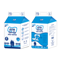 AVM Super Dry Comfort Large Adult Diapers