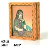 Rajasthani Girl Wooden Frame