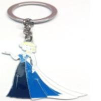 Barbie Blue Dress Girl Metal Keychain