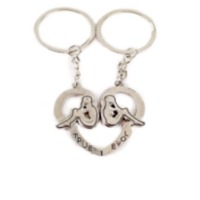 Couple Hearted Metal Keychain