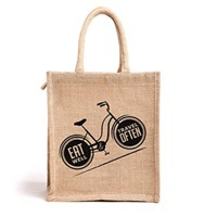 Cycle Printed Jute Bags