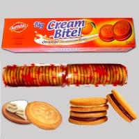 Orange Big Cream Bite Cream Biscuits