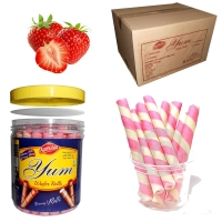 Strawberry Wafer Rolls