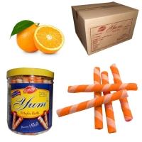 Orange Wafer Rolls