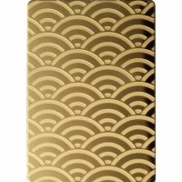 Stainless Steel Decorative Plate - Etched