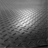 Stable Rubber Mat Checked Top 12mm