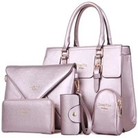 Genuine Real Leather Bag Set