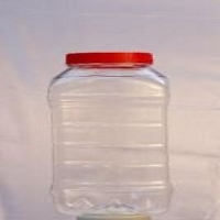 Clear Plastic Confectionery Bottle