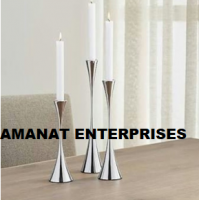 Aluminium Iron And Brass Candle Stands