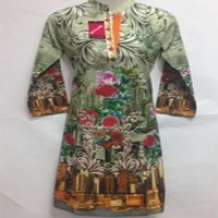 Ladies Digital Printed And Stitched Kurtis