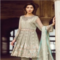 Flosse Chiffon Embroidered Ladies Suit