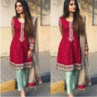 Chiffon Embroidered Ladies Suit