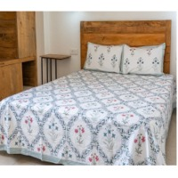 title='Hand Block Printed Cotton Bedsheet'