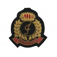 Zari Embroidered Badge