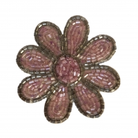 Beaded Applique Motif Sew On Patch