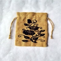 Printed Jute Pouch