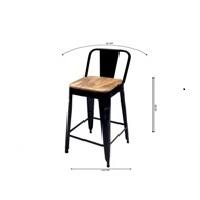 Bar Chair Black Set