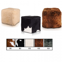 Cube Natural Leather, Sheepskin, cowhide