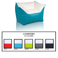 Comfort Pu Leather Armchair, Pouf