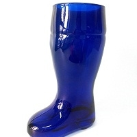 Beer Boot Glass Blue