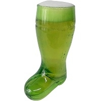 Beer Boot Glass Green