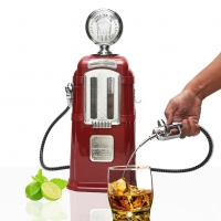 Chrome Plated Double Gas Pump Liquor Dispenser