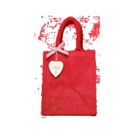 Red Colourful Jute Gift Bag