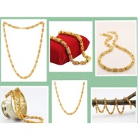 Designer Gold Plated Link Chain