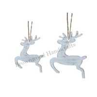 Wooden Christmas Hanging Ornaments Set of 2