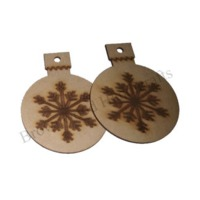 MDF Christmas Hanging Ornaments Set of 2