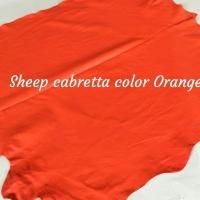 Leather Gloves Sheep Cabretta Col Orange