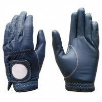 Golf Glove Full Leather Color Navy