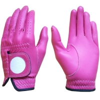 Golf Glove Full Leather Color Pink