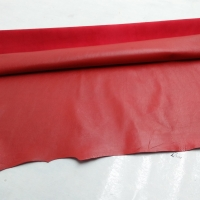 Sheep Skin For Garment Color Red