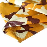 Sheep Cabretta Camuflage Color Yellow for Gloves