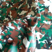 Sheep Cabretta Camuflage Color Green for Gloves