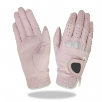 Golf Glove Color Light Pink Combined White Lycra